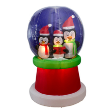 inflatable snow globle with light/Santa Claus with reindeer sleigh