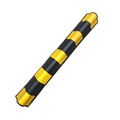 100cm length wall protector rubber parking round angle corner guards with yellow reflector