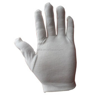 white stripe cotton gloves