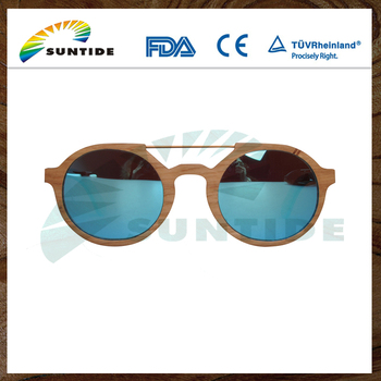 2017 Fashion Handmade Wholesale Wooden Bamboo Sunglasses with Polarized Lenses