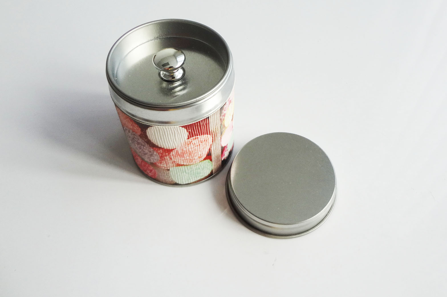 New style tea tin can with pleastic handle