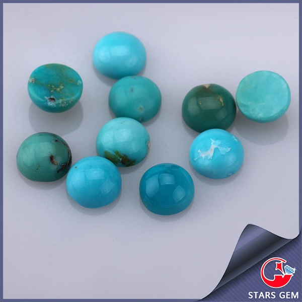 round cabochon customized making loose natural turquoise stones for sale