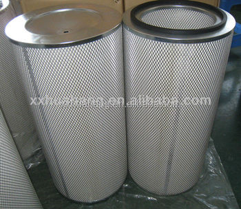 Replace Donaldson pleated cylinder synthetic dust collector filter cartridge