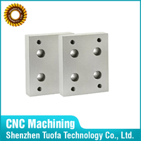 Metal turning aluminum milling service for raw aluminum block