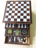 high quality wooden 10 in 1 chess game set