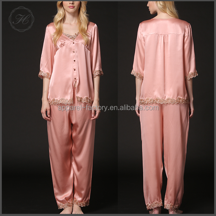 HCY 2017 Free Shipping Wholesale Soft Adult Pajamas For Women Set SP034
