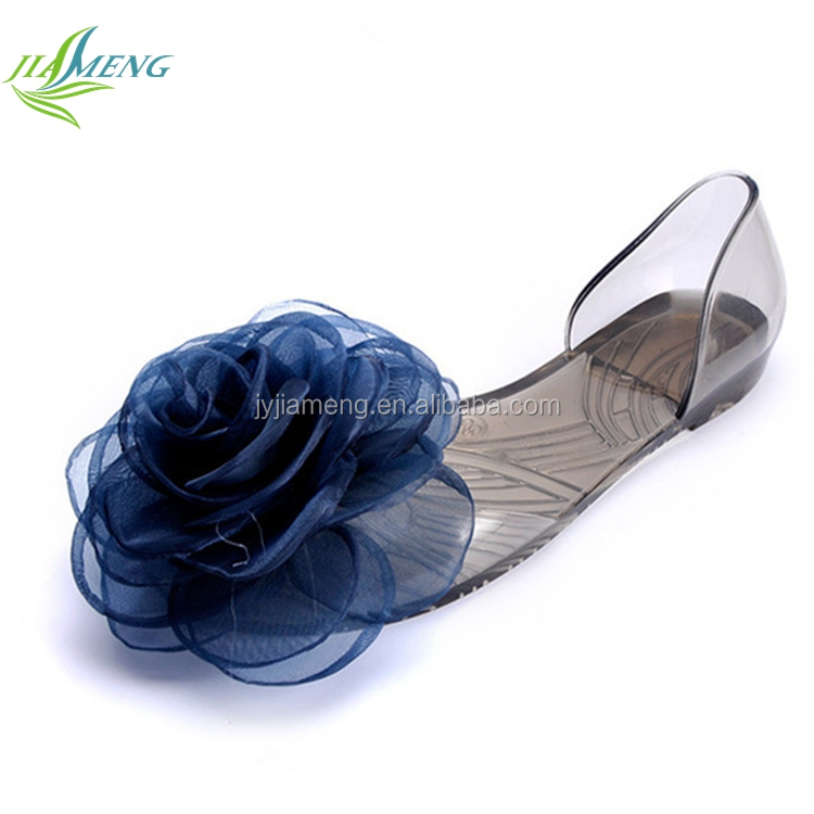new design pva plastic fashion flat shoes fancy sandals