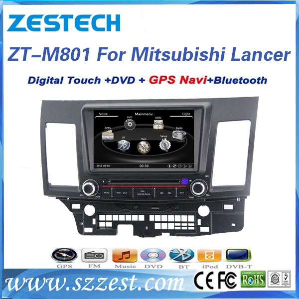HD touch screen car dvd for mitsubishi lancer 2012 car dvd player with gps navigation
