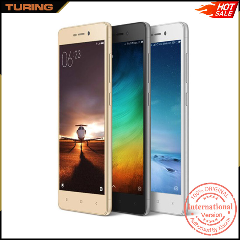 Xiaomi Redmi Red Mi 3S Bulk China Latest For Girls Mobile Phone 2GB RAM 16GB ROM Android 6.0 Octa Core 5.0 inch 13MP