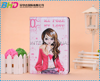 Cute Girl Leather Tablet PC Case For iPad Mini