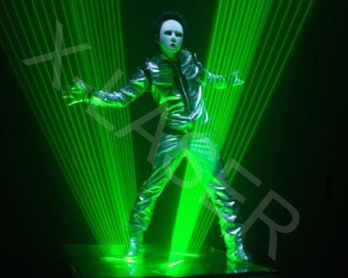 single Green laserman show /Disco club laser dance/2w,3w,4w,5w laser dance equipments