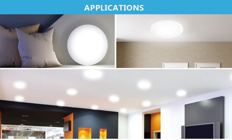 PC aluminum CB TUV CE 9W 18W 24W 36W frameless flat lamp without edge die casting led panel light