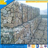 Rock galvanized wire basket/maccaferri gabion/stone cage