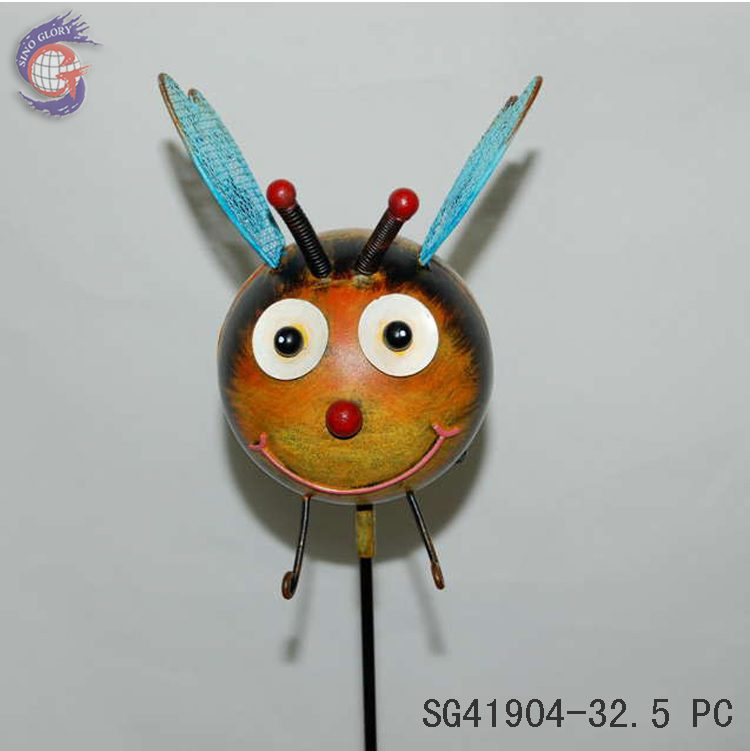 artificial decorative bee garden stakes
