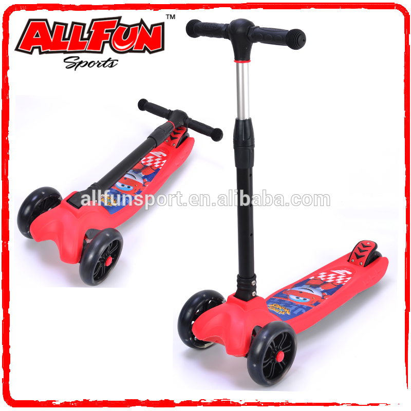 2017 New Design foldable kids scooter 3 wheels mini scooter