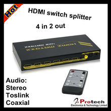high speed hdmi matrix switcher 4 to 2 with audio amplifier PET0402A