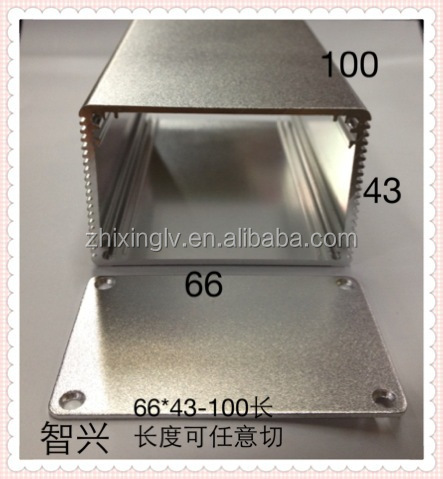 Aluminum Extruded Shell Enclosure 66*43-100 Length Aluminum box /Aluminum Extrusion Box