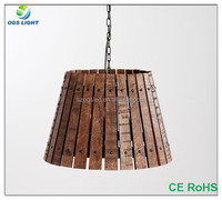 Top Quality New Invention Bedroom Decoration Kids Lamp E27*1 Wood Hat Pendant Lighting