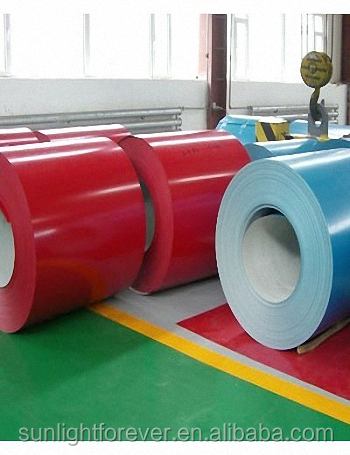 Prepainted GI Steel Coil or PPGI or Color Coated Galvanized Steel Sheet Metal Standard Sheet Size In Coil From China