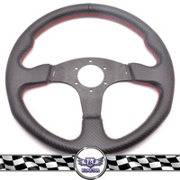 racing part universal Carbon Fiber steering wheel with hand sewed stiching steering wheel cover