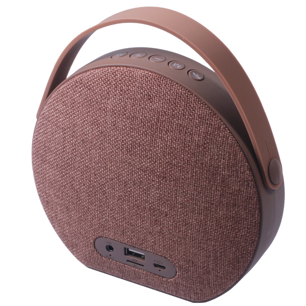 Custom Stereo Bass Portable Fabric Wireless Speaker with Handle