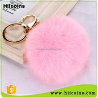 Wholesale Cheap Pom Puff Fur Ball KeyChain