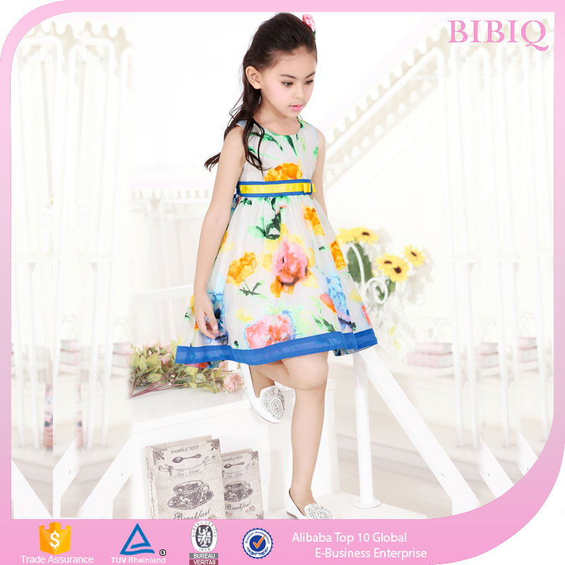 Baby Girls Frock Design Pictures Flower Printed Dresses