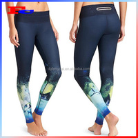 Wholesale Fitness Workout Clothing Plus Size Printed Workout Yoga Pants Sports Leggings For Women