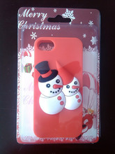 2013 Father Christmas Sock Snowman Silicone Phone Case Cellphone Case
