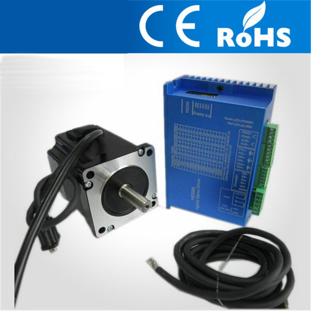 3.4N.M 86mm NEMA34 Closed Loop Stepper Motor With Driver And 3M Cables for CNC Mill JK86HS67