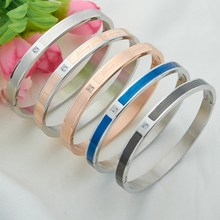 316l Stainless Steel Custom InitIal Engraved simple design bracelet Inspiration Messages Plain Cuff Bracelet imitation jewelry