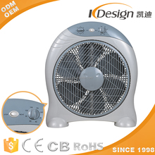 Home Appliance Box Fan With Handle Full Copper Motor With Fuse