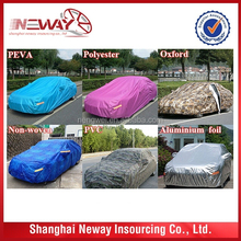 easy fold and unfold PEVA/ PVC/ polyester fabric car cover