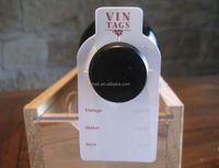 wine neck hang tags, liquor bottle neck labels with custom design