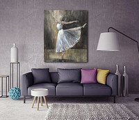 2016 Handmade on board MB016 High Quality Home Decoration Sexy Dancer girl Art Wall Oil Painting