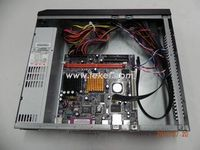 cheap assembled desktop computer S03_D425MS,Best Combination:Intel Macro-ATX Board D425MS,1G RAM ,4G SSD,Slim Metal Chassis,IPC