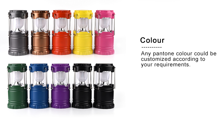 Top Supplier Portable Telescopic LED Camping Lantern Flashlight for Emergency, hiking, Outage