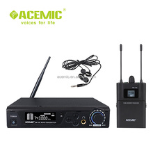 Professional wireless in ear monitor system in-ear earphone and headphones with LCD display for stage studio cctv EM-100