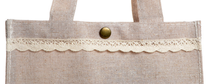 Luxury Linen Shopping Tote Bag for Women