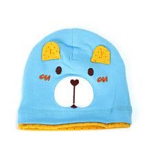 2017 fashion design bear character personalized baby hats cartoon beanie knitted crew hat for sale