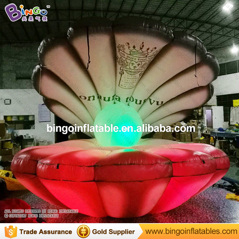 Stage / Wedding decoration inflatable light up seashell, inflatable stage shell
