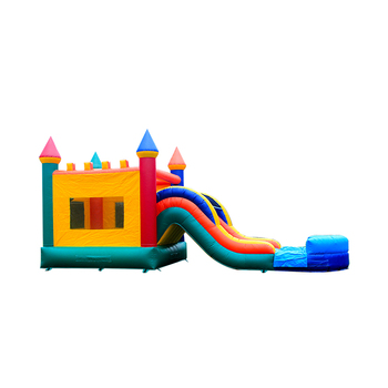 NEVERLAND TOYS inflatable bouncer named Rainbow Wet Combo which is belonging to inflatable bouncers combo for sale