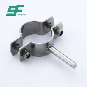 ShengFeng Food Grade stainless Steel SS304L round hanger pipe holder