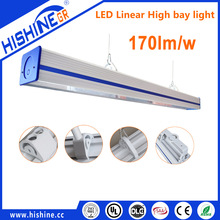 Trunking System Ceiling LED Linear High Bay Light linear panel high bay light with 170lm/W for Garage warehouse