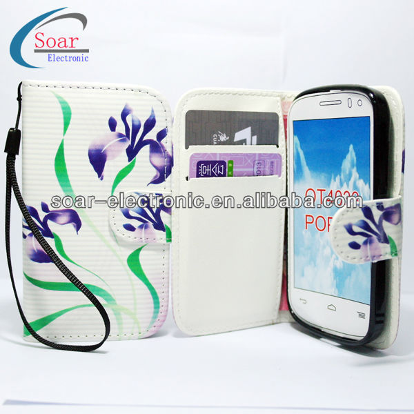 Flip case for alcatel one touch pop c3 4033,for digicel dl700