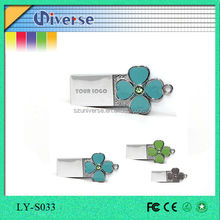 Lucky four leaf clover wedding gift usb pen drive