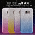 Cheap wholesale price gradient case for samsung s5 s7,for s7 edge slim glitter case 3 in 1