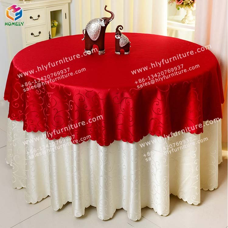 Factory price wedding table cloth for promotion