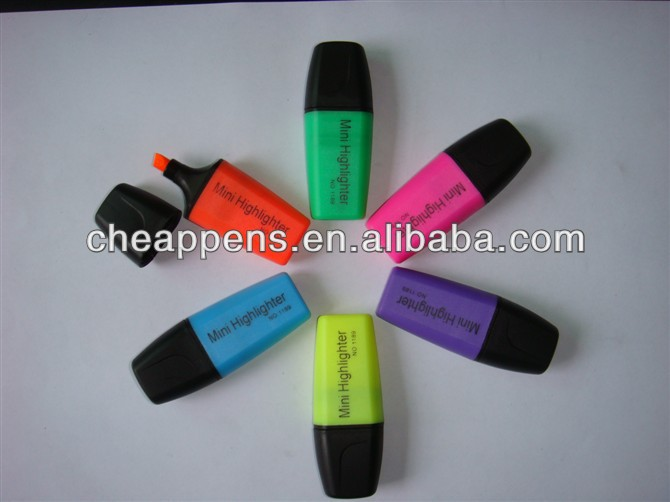 plastic PVC bag packing children highlighter marker set
