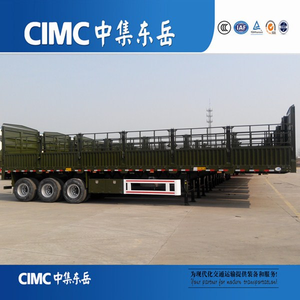CIMC 3 axle High Wall fence cargo transport stake semi trailer